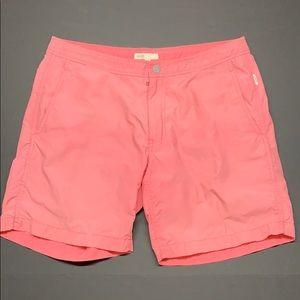 Onia Calder Swim shorts. Pink. Sz. 33. Very nice